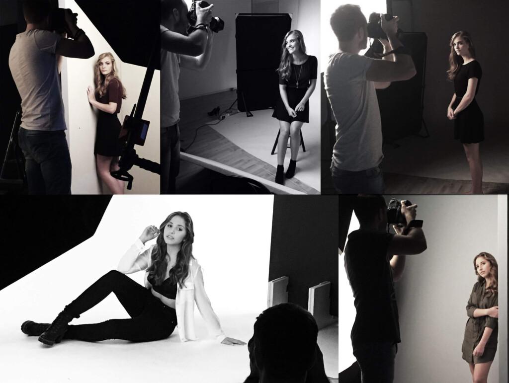 glamour fotoshoot visagie en hairstyling achter de schermen
