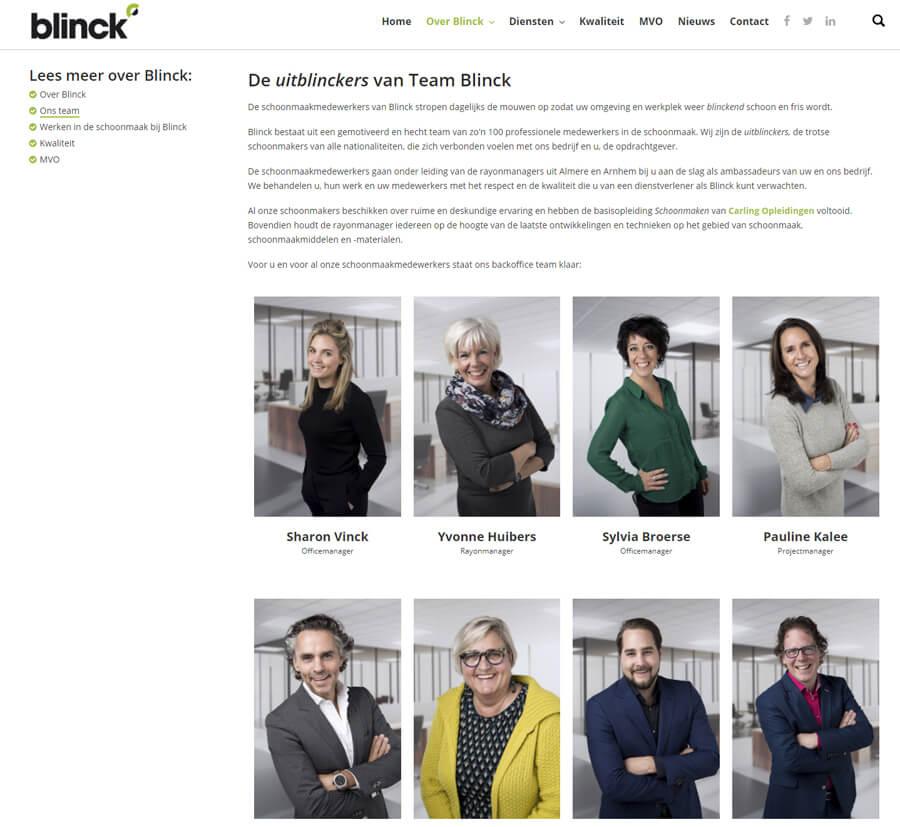 portretfotoshoot voor schoonmaakbedrijf Blinck