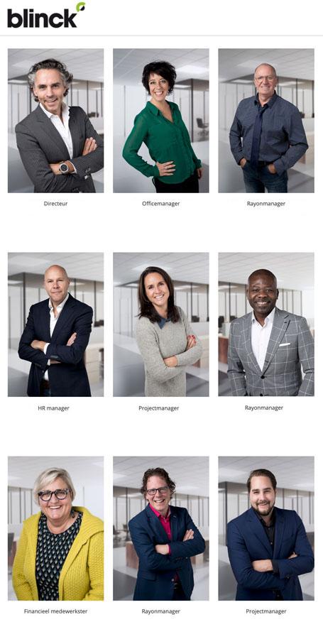 zakelijke portretfoto medewerkers