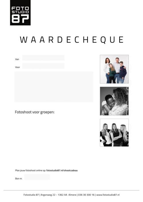 Groepen Waardecheque