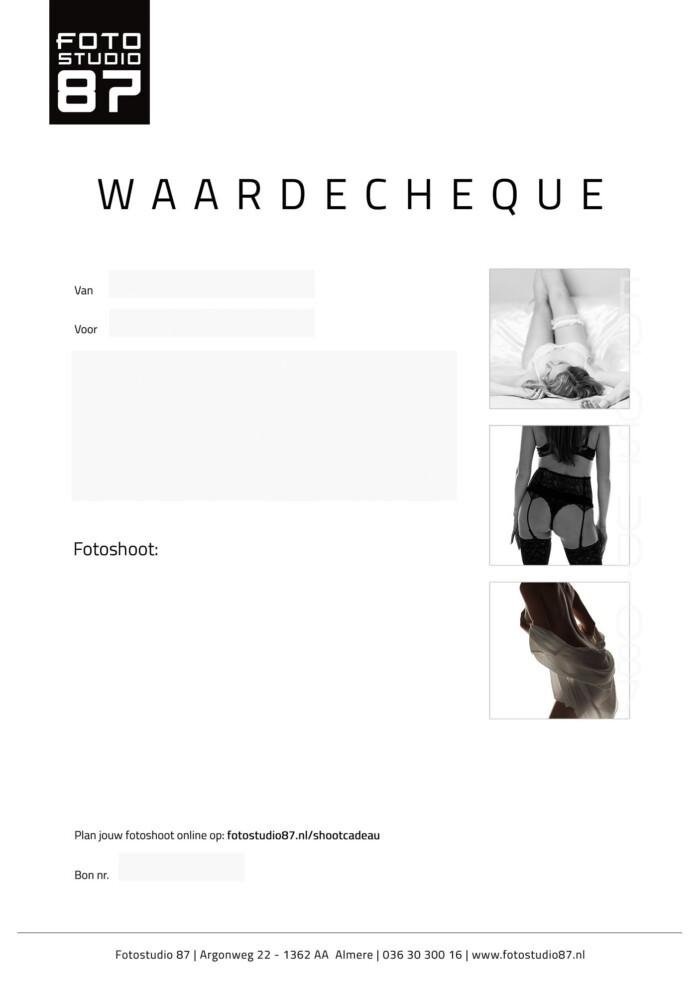 Sexy Waardecheque