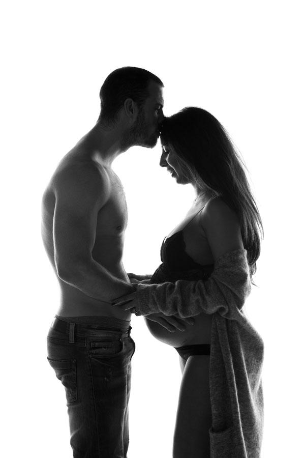 Silouet foto zwangerschap met partner
