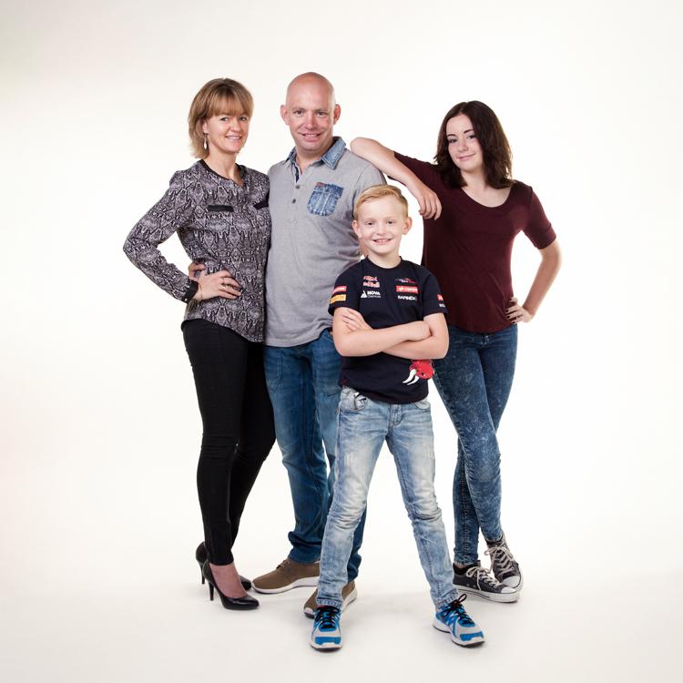 familie portret fotoshoot van het gezin