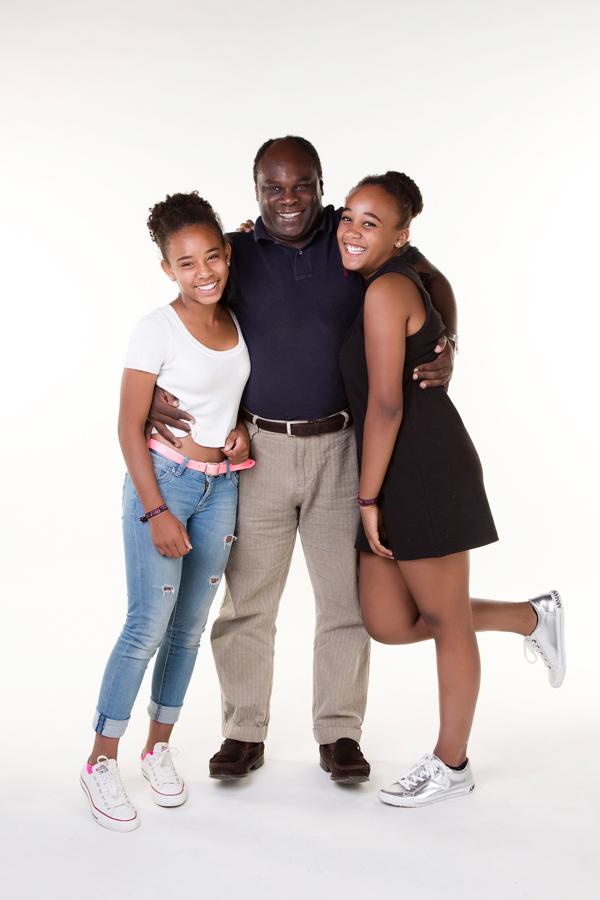 familie fotoshoot vader en dochters