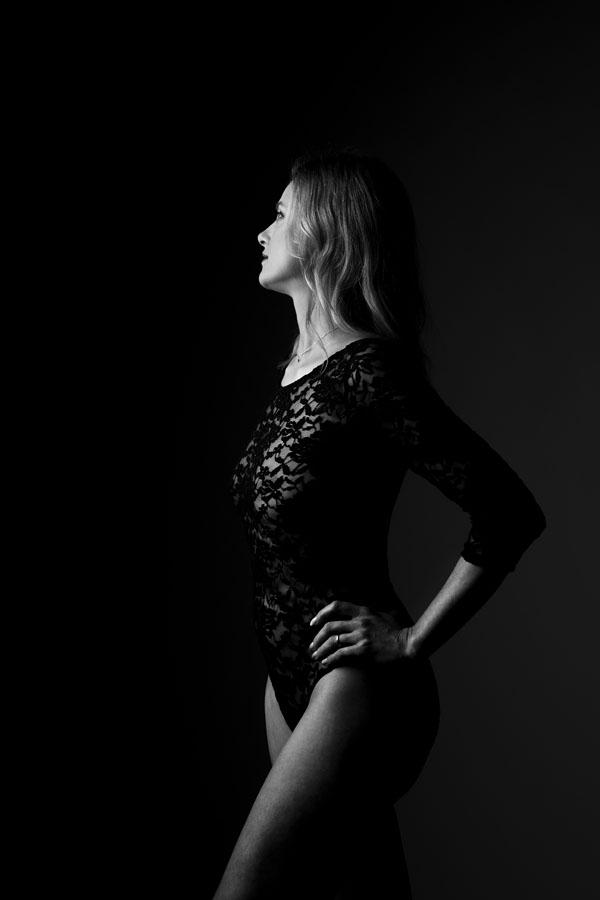 portret fotoshoot body zwart wit
