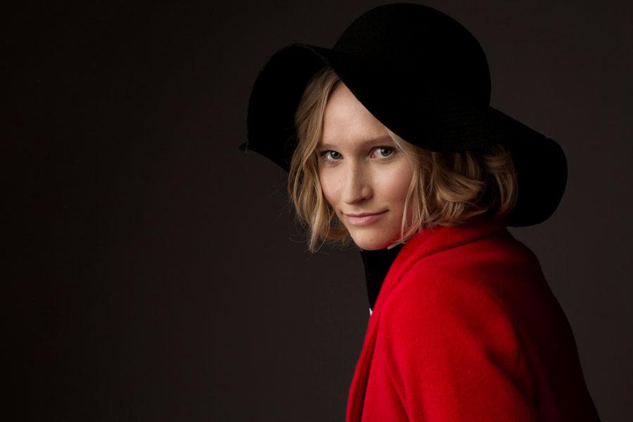 fotoshoot van vrouw met hoed