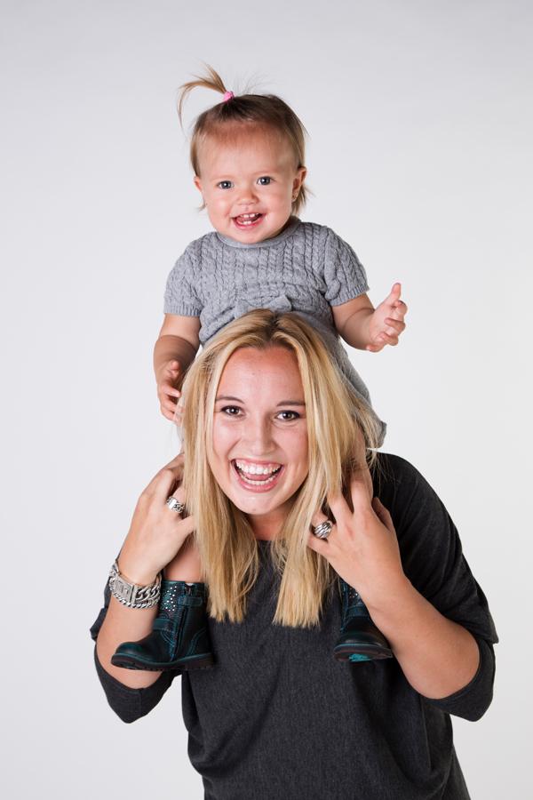 spontane fotoshoot van moeder dochter