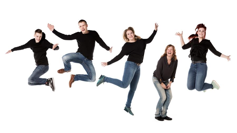 fotoshoot springen