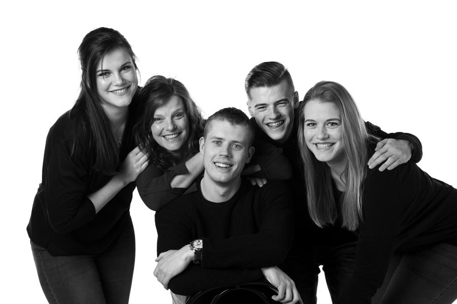 gezins fotoshoot zwart wit