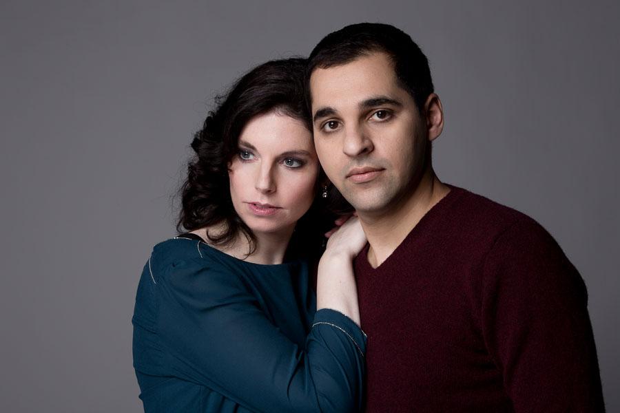 portret love fotoshoot man en vrouw