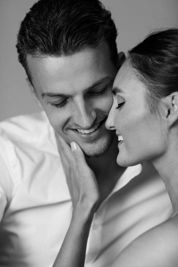 portret fotoshoot man en vrouw zwart wit