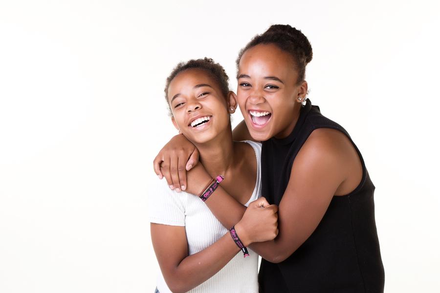 familie portret zussen
