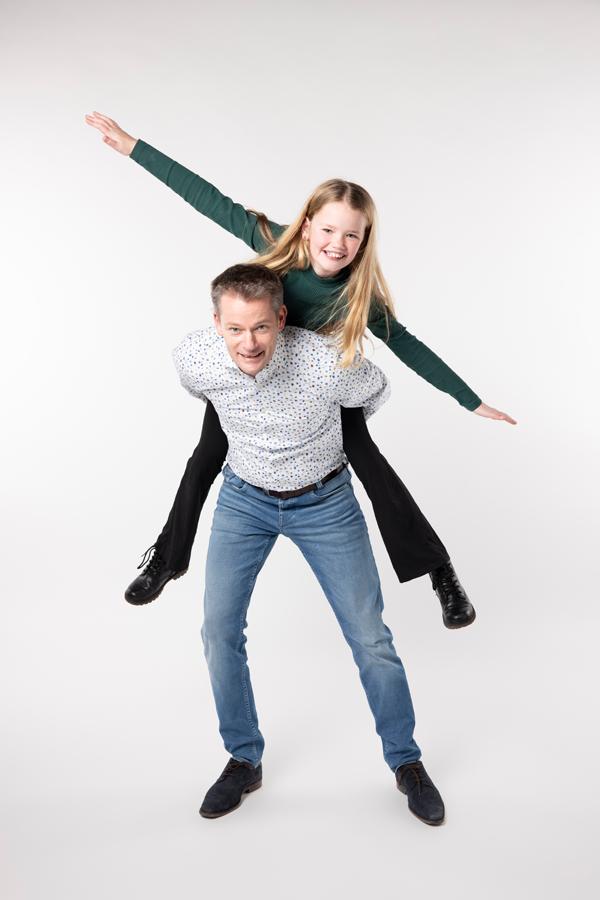 vader en dochter fotoshoot