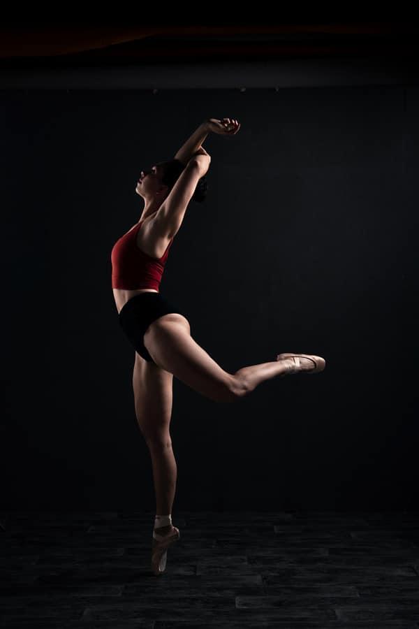 Dansende ballerina sport fotoshoot